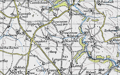 Old map of Newtown in 1946