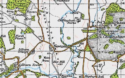 Old map of Lilburn Grange in 1947