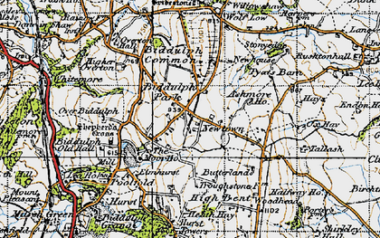 Old map of Ashmore Ho in 1947