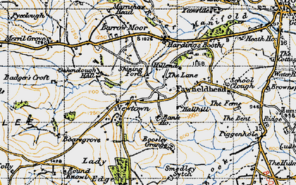 Old map of Badger's Croft in 1947