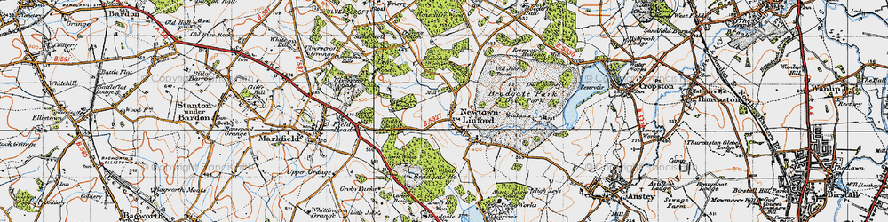 Old map of Lea Wood in 1946