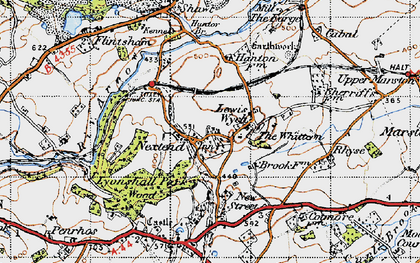 Old map of Lewis Wych in 1947
