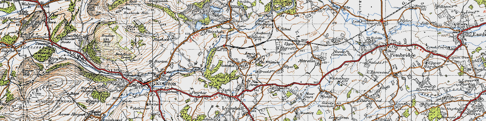 Old map of Whittern, The in 1947