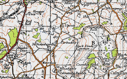 Old map of Windwhistle in 1946
