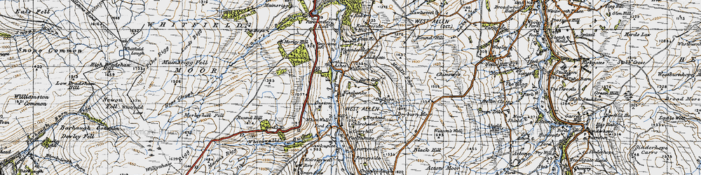 Old map of Whamlands in 1947