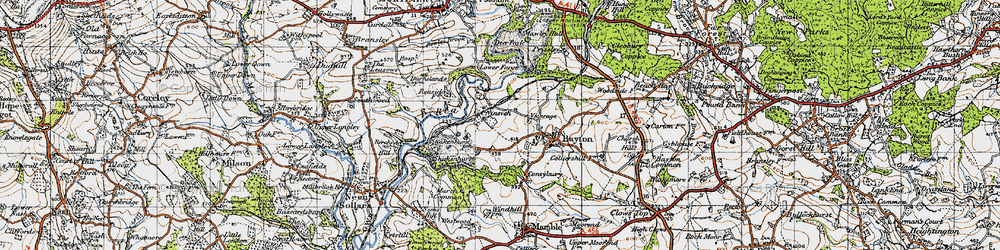 Old map of Wissett's Wood in 1947
