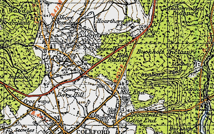 Old map of Wimberry Slade in 1946