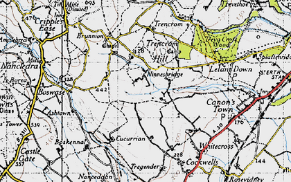 Old map of Ninnes Bridge in 1946