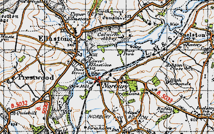 Old map of Norbury in 1946