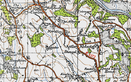 Old map of Albynes, The in 1946