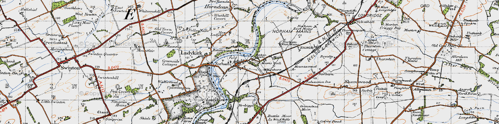 Old map of West Newbiggin in 1947