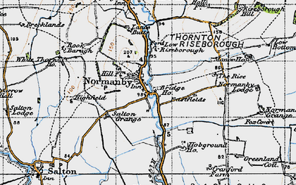 Old map of Riseborough Hall in 1947