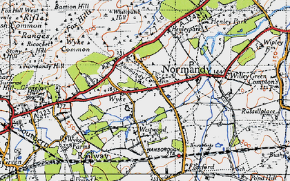 Old map of Whitepatch Hill in 1940