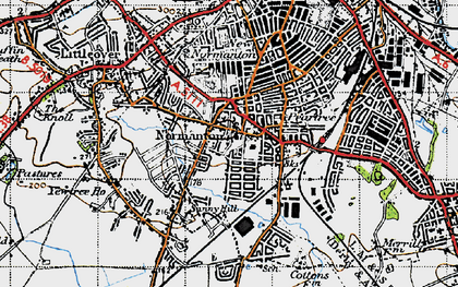 Old map of Normanton in 1946