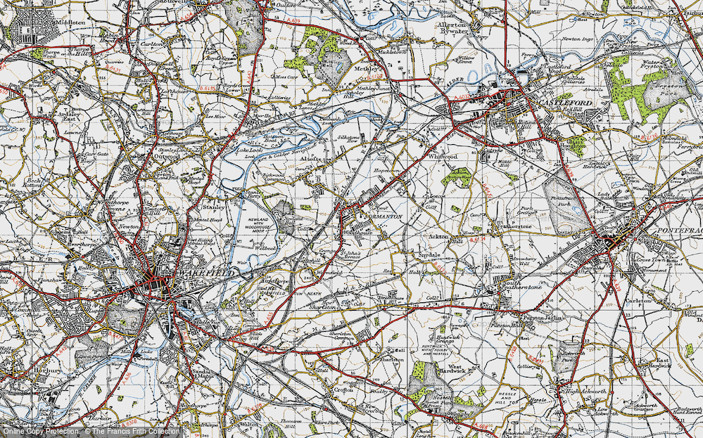Old Map of Normanton, 1947 in 1947