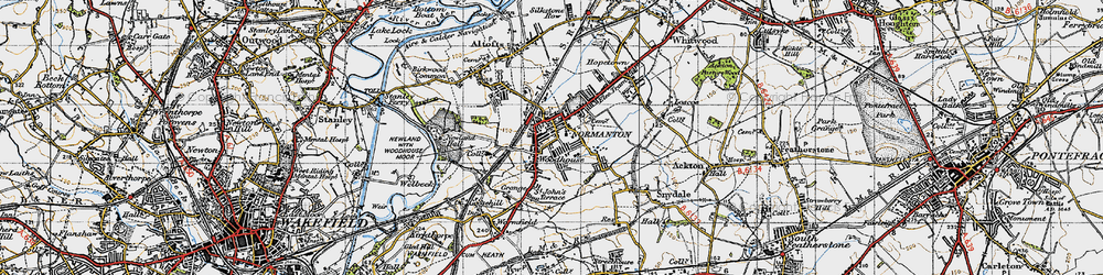 Old map of Normanton in 1947