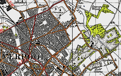 Old map of Norris Green in 1947