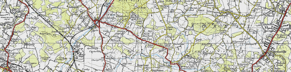 Old map of North Boarhunt in 1945