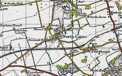 Old map of North Cave in 1947