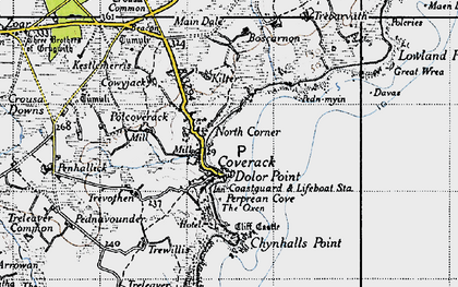 Old map of North Corner in 1946