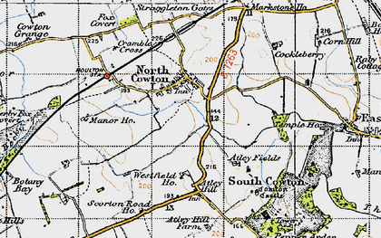 Old map of Atley Hill in 1947