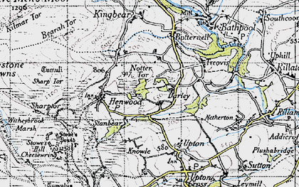 Old map of North Darley in 1946