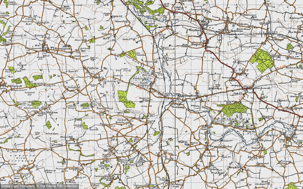 Old Map of North Elmham, 1946 in 1946