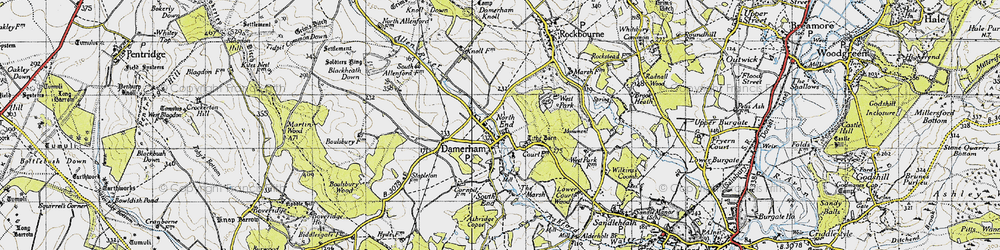 Old map of West Park in 1940