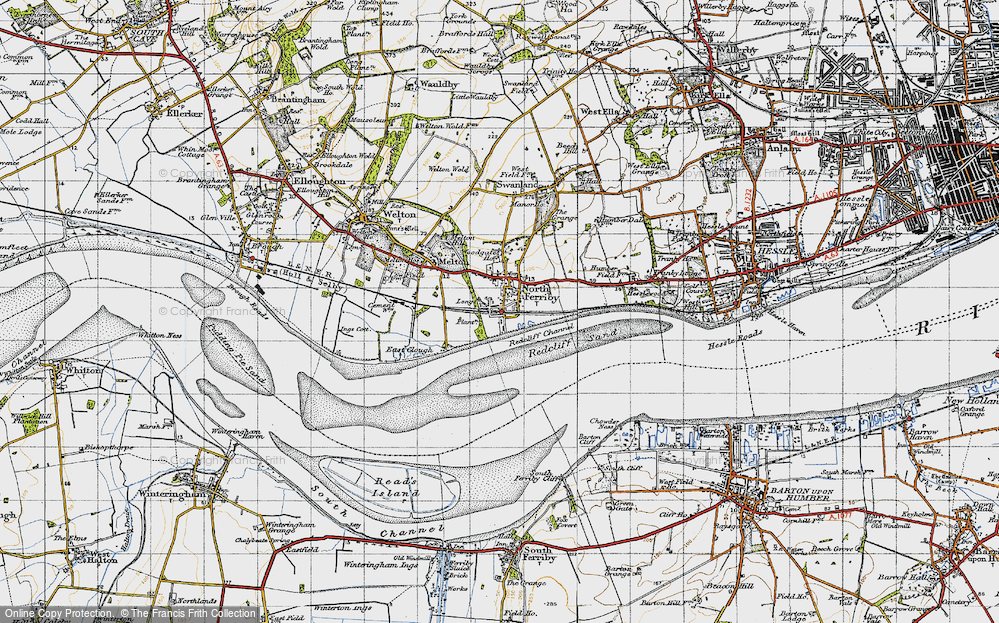 Old Map of North Ferriby, 1947 in 1947