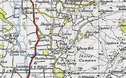 Old map of North Gorley in 1940