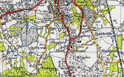 Old map of North Holmwood in 1940