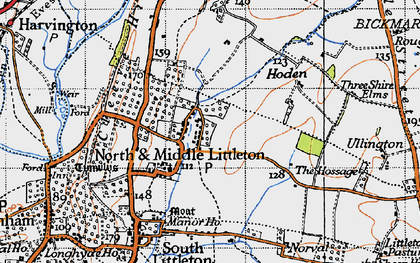 Old map of North Littleton in 1946