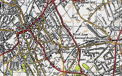 Old map of Drift Bridge in 1945