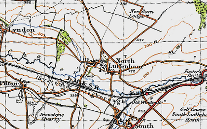 Old map of North Luffenham in 1946