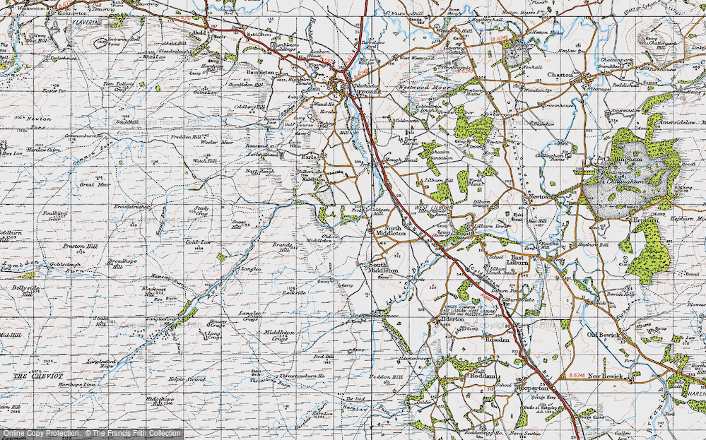 Old Map of North Middleton, 1947 in 1947