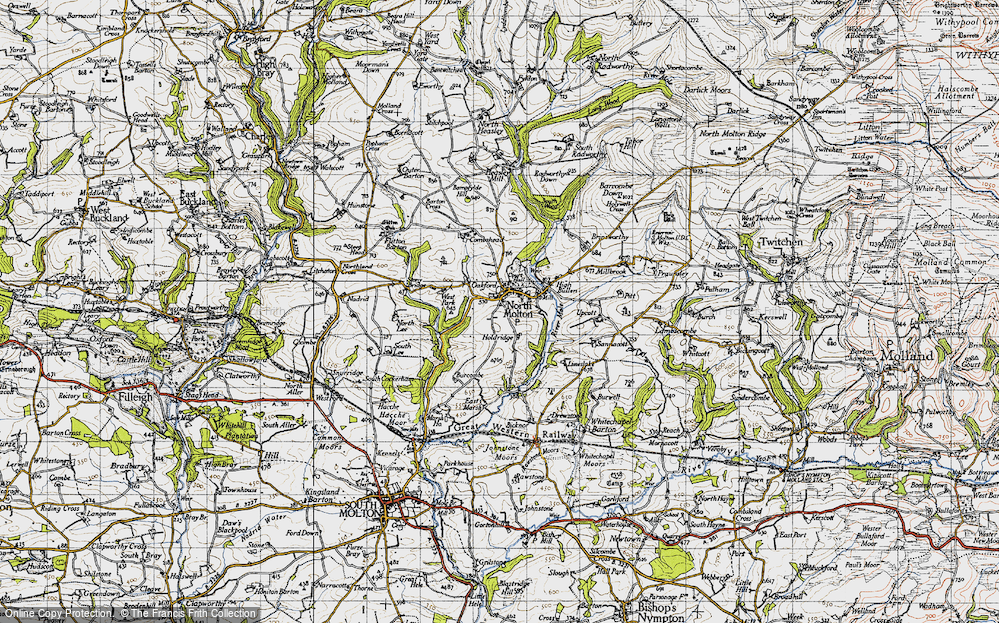 Old Map of North Molton, 1946 in 1946