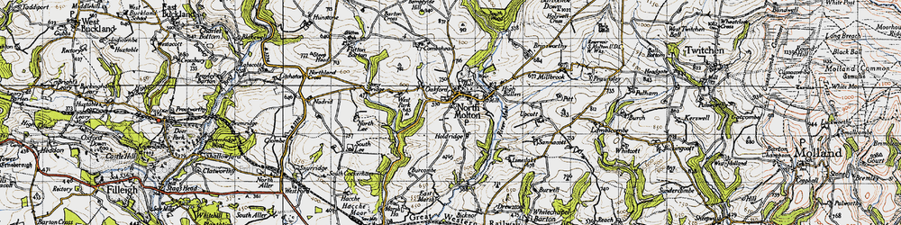 Old map of North Molton in 1946