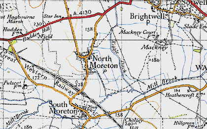 Old map of North Moreton in 1947