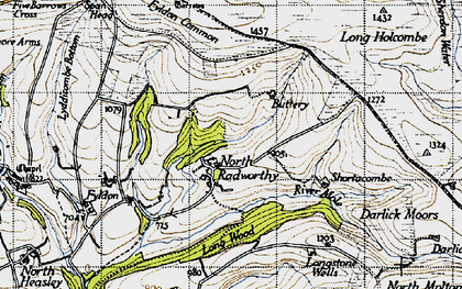 Old map of Wester Emmetts in 1946
