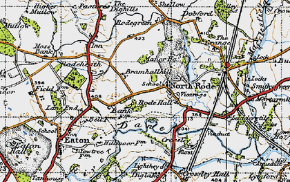 Old map of Lighthey in 1947