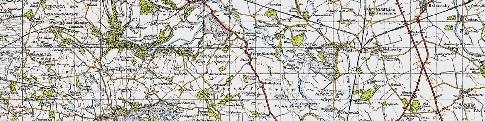 Old map of Lightwater Valley in 1947