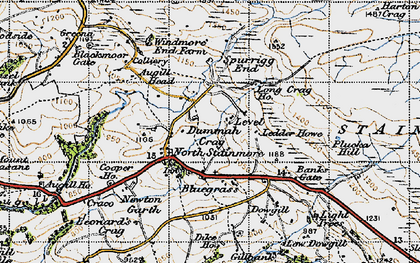Old map of Windmore Green in 1947