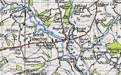 Old map of Affaland Wood in 1946
