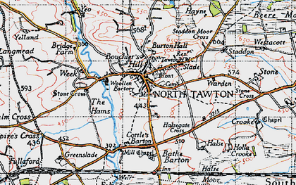 Old map of Yeo in 1946