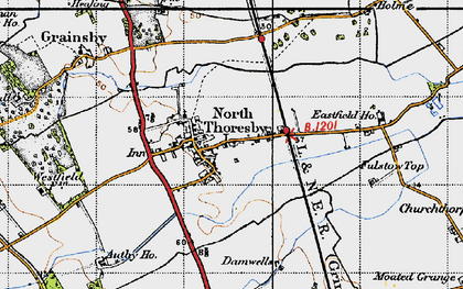 Old map of North Thoresby in 1946