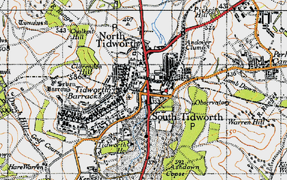 Old map of Tidworth Camp in 1940