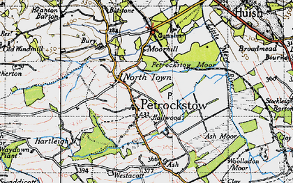 Old map of Ash Barton in 1946