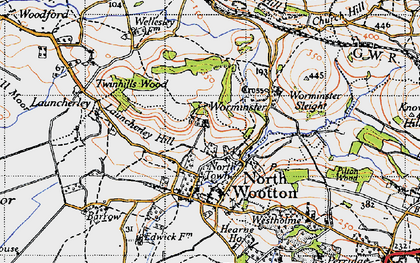 Old map of Launcherley Hill in 1946