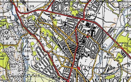 Old map of North Watford in 1946
