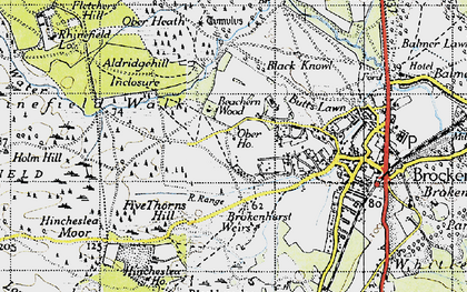 Old map of Aldridgehill Inclosure in 1940